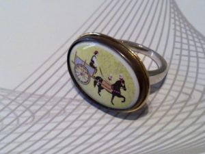 Anello con ceramica siciliana in oro e argento € 180,00